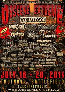 Live: Obscene Extreme Festival 2014 – Day 4: July 19th, 2014.