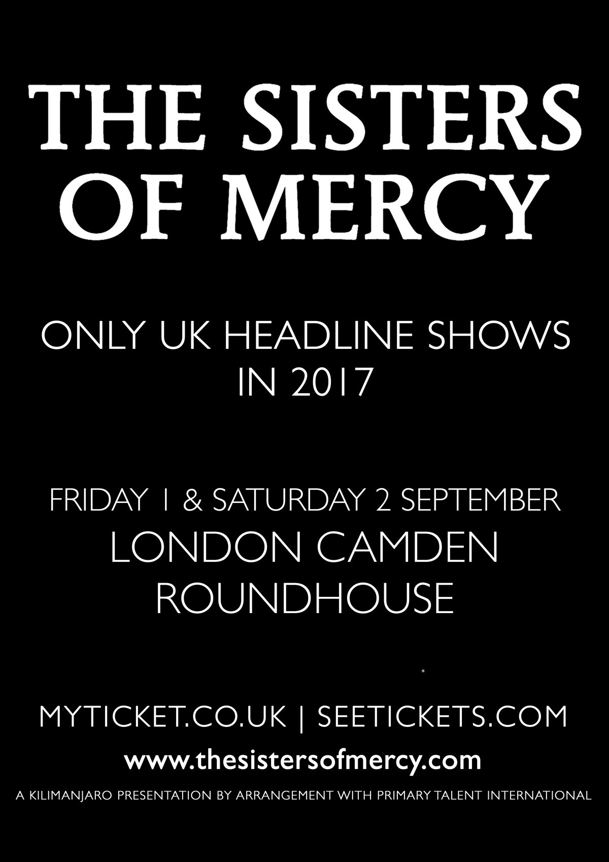 Sisters Of Mercy at The Roundhouse, London