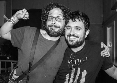 Baba Yaga's Hut promoter Anthony Chalmers and photographer Jose Caamano @ Boston Music Room